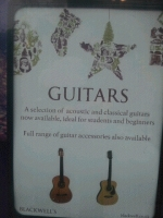 We sell guitars in our Music shop!