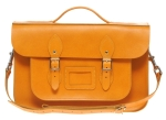 We have an enormous selection of leather satchels - different colours, different sizes. Just ask!